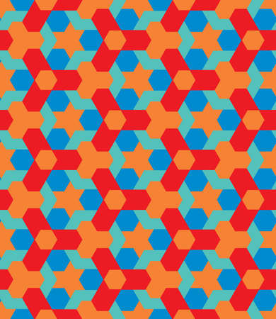 nineties: Abstract pop art decorative seamless geometric pattern vector