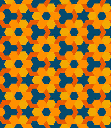 Abstract old-styled decorative seamless geometric pattern vector