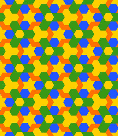 Abstract colorful decorative seamless geometric pattern vector