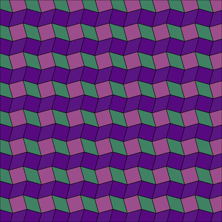 Abstract geometric background of violet, magenta and green rhombus and square shapes Stok Fotoğraf - 69350518