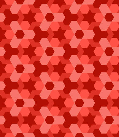 Abstract red shades vogue decorative seamless geometric pattern Stok Fotoğraf - 69350524