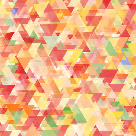 Colorful abstract background of triangles in red, blue, yellow, orange, and green shades