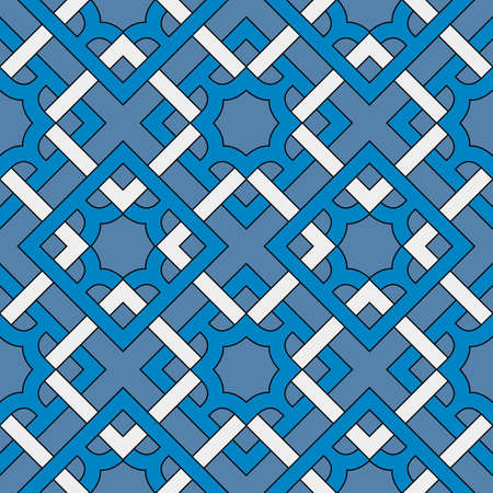 Abstract modern geometric seamless pattern of blue and white shades Stok Fotoğraf - 75936391