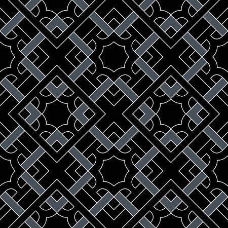 Abstract stylish geometric seamless pattern of black, grey, and white shades