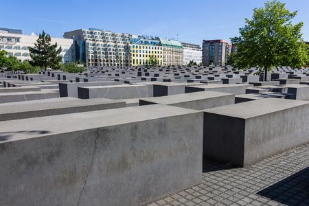 BERLIN, GERMANY, JUNE 6, 2018 - Memorial to the Murdered Jews of Europe.
