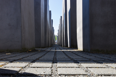 BERLIN, GERMANY, JUNE 6, 2018 - Memorial to the Murdered Jews of Europe.