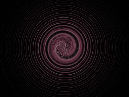 burgundy: 3D rendering with burgundy abstract spiral fractal Stock Photo