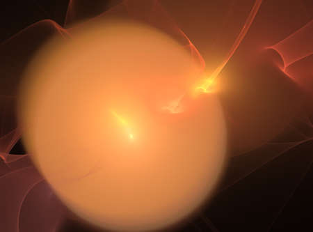 blaze: 3D rendering with flame orb in a blaze Stock Photo