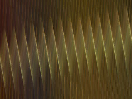 corrugation: 3D rendering with yellow abstract fractal texture spiral