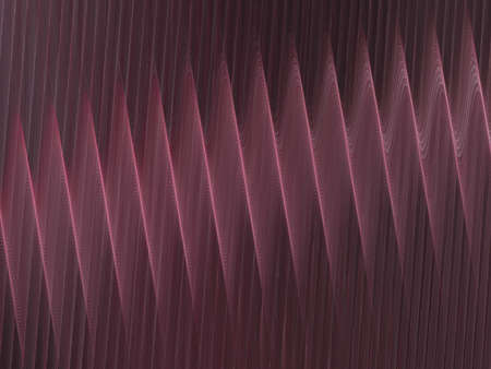 corrugation: 3D rendering with pink abstract fractal texture spiral Stock Photo