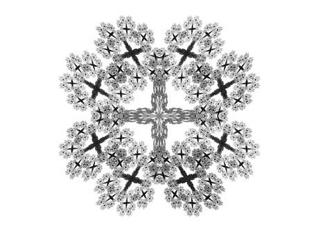 Abstract fractal with gray pattern on white background Stock Photo