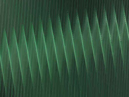 corrugation: 3D rendering with dark green abstract fractal texture spiral
