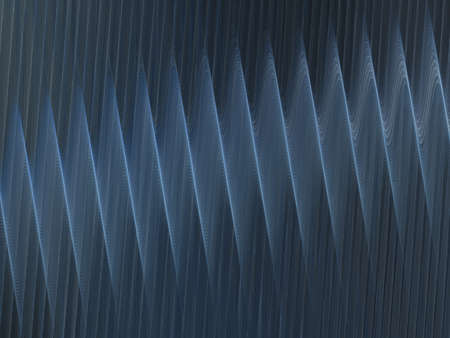 corrugation: 3D rendering with blue abstract fractal texture spiral