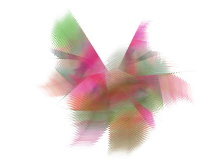 3D rendrering with abstract fractal in the form of multi-colored pattern of diffuse rays.