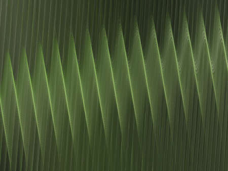 corrugation: 3D rendering with light green abstract fractal texture spiral Stock Photo