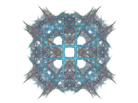 Abstract fractal with a blue pattern on a white background Stock Photo