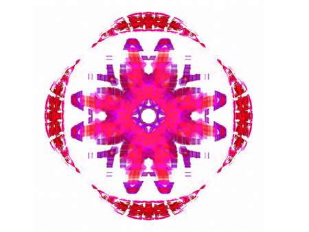 Abstract fractal with a pink pattern on a white background. Stock Photo