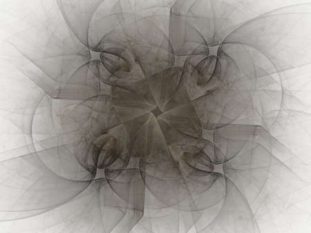 gray pattern: 3d rendering with gray abstract fractal pattern. Stock Photo