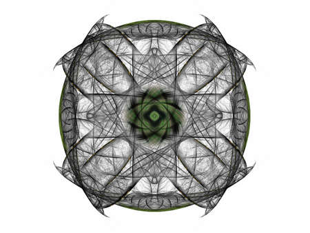 3D rendering with gray abstract fractal pattern.