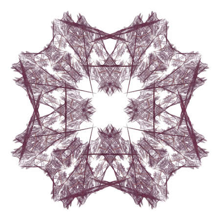 3D rendering with vinous abstract fractal pattern.