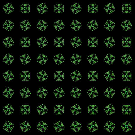 Texture with green rendering abstract fractal pattern.