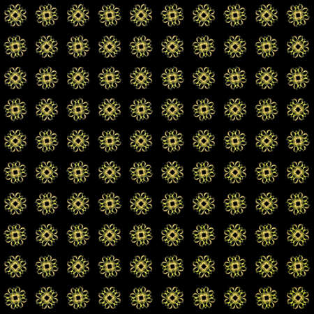 Texture with yellow rendering abstract fractal pattern.