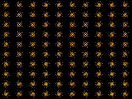 Texture with rendering abstract fractal yellow pattern. Stock Photo