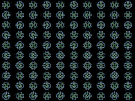 Texture with rendering abstract fractal green pattern.