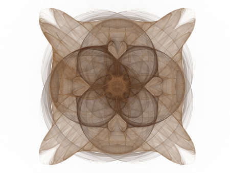 3D rendering with abstract fractal brown pattern. Stock Photo