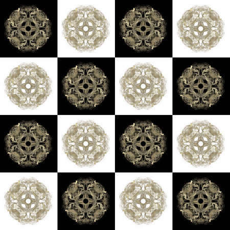 Texture with 3D rendering abstract fractal beige pattern.