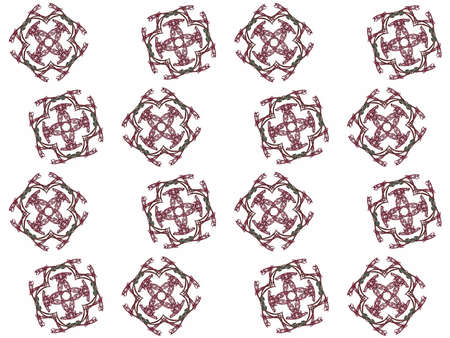 Texture with 3D rendering abstract fractal maroon pattern.