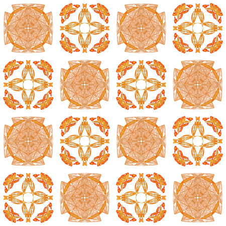 Texture with 3D rendering abstract fractal orange pattern. Stock Photo