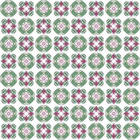 Seamless texture with 3D rendering abstract fractal green pattern on a white background for fabric design