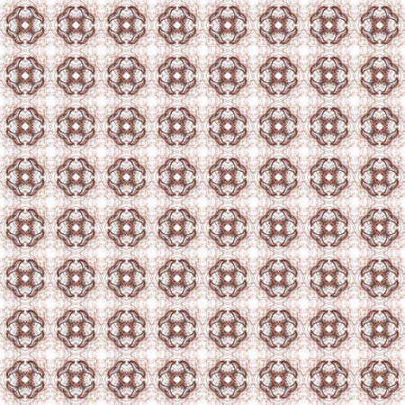 Seamless texture with 3D rendering abstract fractal dark red pattern on a white background for fabric design