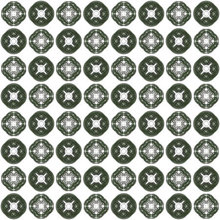 Seamless texture with 3D rendering abstract fractal dark green pattern on a white background for fabric design