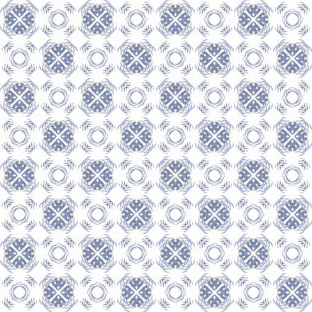 Seamless texture with 3D rendering abstract fractal blue pattern on a white background for fabric design
