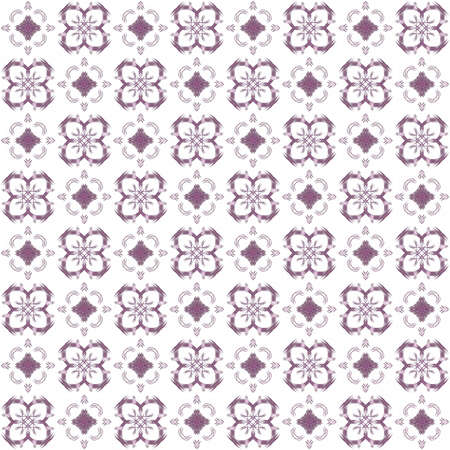 Seamless texture with 3D rendering abstract fractal purple pattern on a white background for fabric design Фото со стока