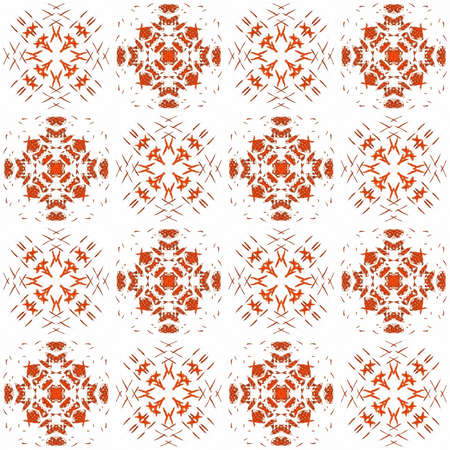 Seamless texture with 3D rendering abstract fractal red pattern on a white background for fabric design Reklamní fotografie