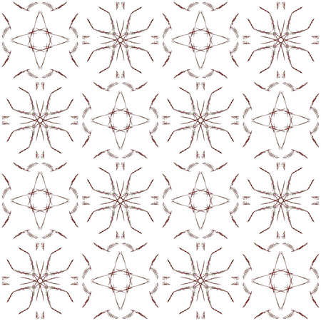 Seamless texture with 3D rendering abstract fractal maroon pattern on a white background for fabric design