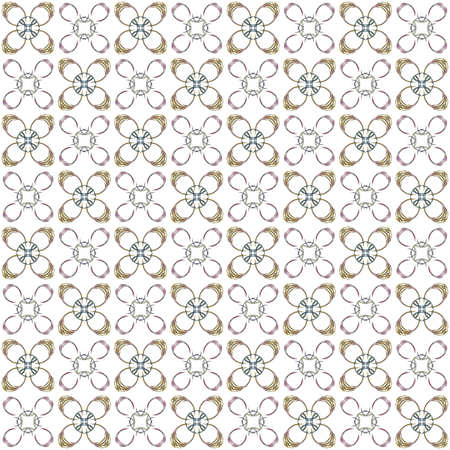 Seamless texture with 3D rendering abstract fractal colorful pattern on a white background for fabric design