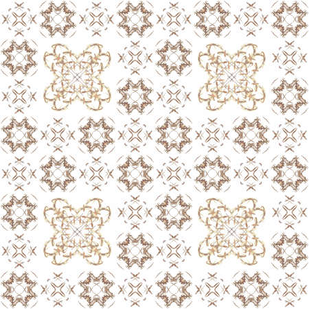 generating: Seamless texture with 3D rendering abstract fractal beige pattern on a white background for fabric design Stock Photo