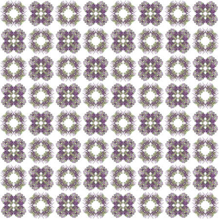 generating: Seamless texture with 3D rendering abstract fractal purple pattern on a white background for fabric design Stock Photo