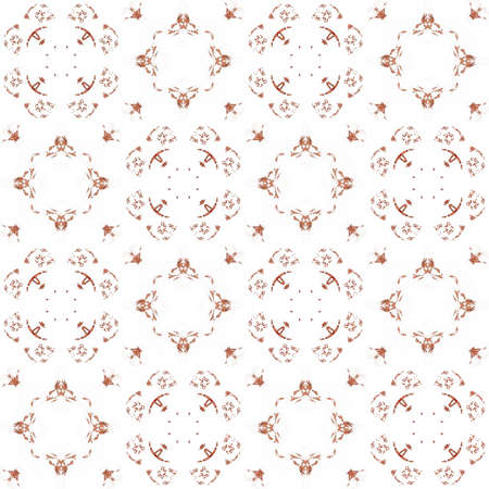 generating: Seamless texture with 3D rendering abstract fractal orange pattern on a white background for fabric design