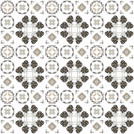 generating: Seamless texture with 3D rendering abstract fractal gray pattern on a white background for fabric design