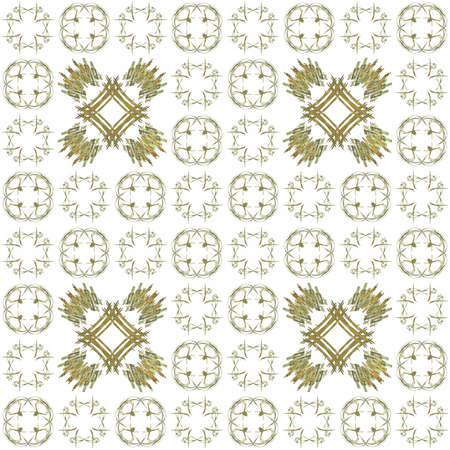 generating: Seamless texture with 3D rendering abstract fractal yellow pattern on a white background for fabric design
