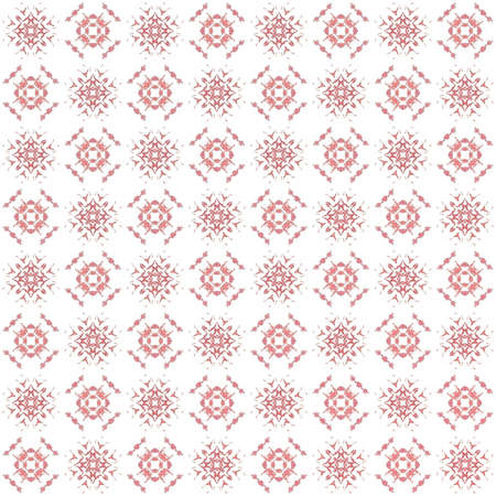 Seamless texture with 3D rendering abstract fractal pink pattern on a white background for fabric design