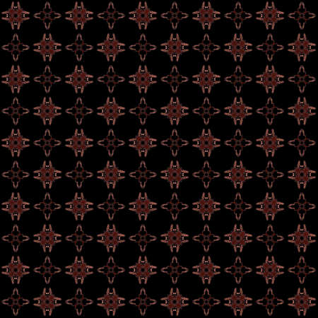 Seamless texture with 3D rendering abstract fractal maroon pattern on a black background for fabric design