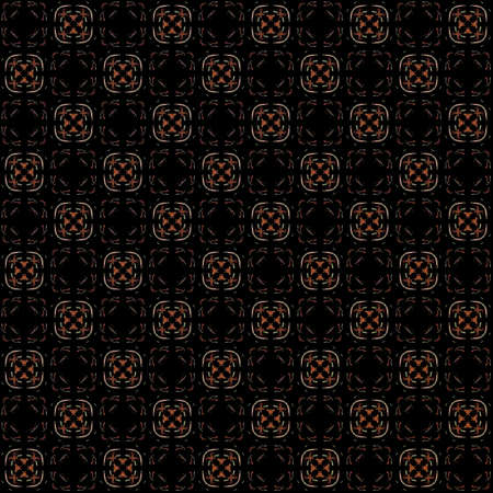 Seamless texture with 3D rendering abstract fractal colorful pattern on a black background for fabric design Stock Photo