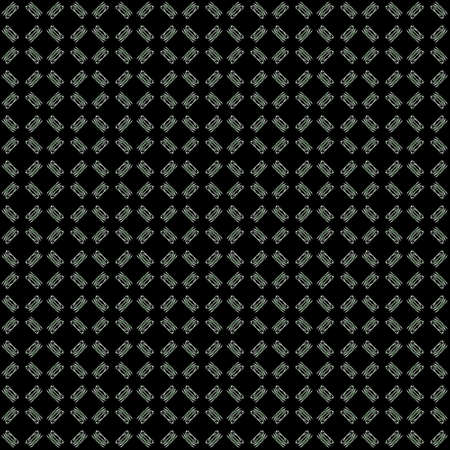 Seamless texture with 3D rendering abstract fractal green pattern on a black background for fabric design