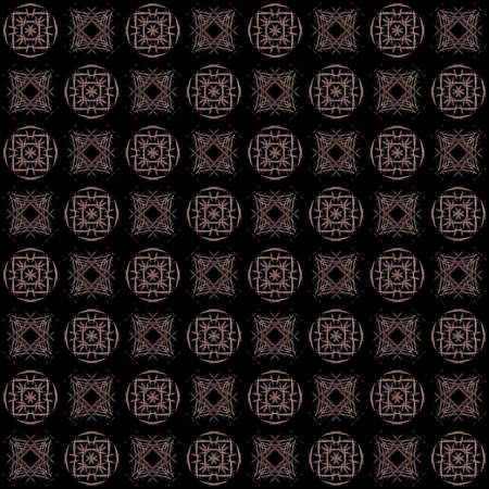 Seamless texture with 3D rendering abstract fractal pink pattern on a black background for fabric design Фото со стока